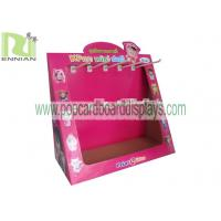 Quality Cardboard counter display with hooks countertop displays pos displays CDU fixtures ENCD002 wholesale