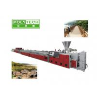Quality 400kg/h Wood Plastic Composite Production Line With Twin Screw Extruder 1400mm wholesale