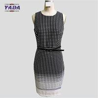 China Fashion sleeveless wave point ladies fashion casual women dresses knitted dress with high quality on sale