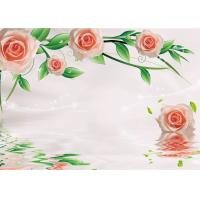 China Green Healthy Livable Bamboo Fiber Board / Flower Rose Fiber Wall Panels Easy Install on sale