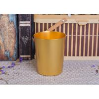 Quality 334ml Gold Metal Aluminum Tin Candle Holders / Candle Jar For Home Decoration wholesale
