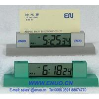 China Mini LCD Alarm Clock with name card holder and stopwatch---EN6011 on sale