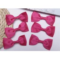 Quality Pink Tie Christmas Ribbon Bow Tie , Satin Ribbon Bows Eco Friendly wholesale