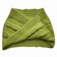 Quality Knitted Scarf with Twisted Pattern wholesale