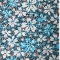 China spandex & polyester Digital Printed Fabric , Print Stripe Lace Normal Dyeing on sale