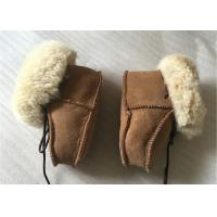 Quality Genuine Sheepskin Baby Shoes , Winter Boots for Infant / Toddler wholesale