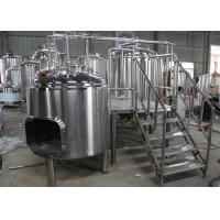 Quality 1BBL Commercial Beer Making Equipment , Draught Beer Machine Flat Bottom wholesale