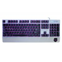 Cheap 104 Keys Anti Ghosting Gaming Keyboard , Red Blue Purple Backlit Gaming Keyboard for sale