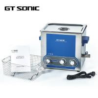 Quality 6L Heating Manual Ultrasonic Cleaner Power Adjustable 40kHz 150W 0-30 Mins Timer wholesale