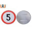 Retroreflective Sheet Road Safety Warning Sign EGP Grade Computer Engraving for sale