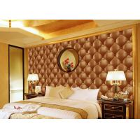 Quality Concise Diamond Printing Inmitation Leather Wall Coverings Moisture Resistant wholesale