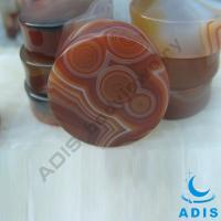 Quality Red Stripes Stone Ear Plugs , Solid Plugs Jewelry For Women / Girls wholesale