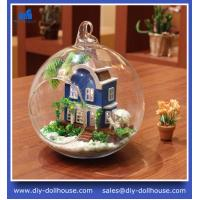 Quality DIY Glass Ball Doll House Model Building Kits Wooden Mini Handmade Miniature MG001 wholesale