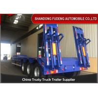 Buy cheap 3/4 Axles 60/80 Tons With Mechanical Ramps Low Bed Semi Trailer Selling from wholesalers