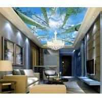 Quality Hotel Room Integrated Ceiling System Bamboo Fiber Sky And Tree Pattern wholesale