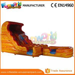 Quality Volcano Giant Dual Slide Inflatable Slip And Slide 0.55mm PVC Tarpaulin wholesale