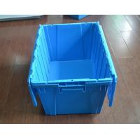 plastic crate agriculture Stack and Nest plastic tote crate with lid plastic attached-lid