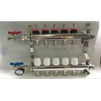 Quality Russia Style Long  Flow Meter Radiant Heat Manifold With White Control wholesale