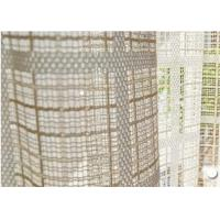 China Luxury Striped Voile Curtain Fabric For Tablecloth , Home Textile Fabric on sale