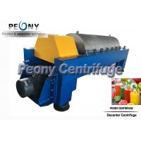 Quality Large Capacity Continuous Decanter Centrifuges for Fruit Juice Clarifying wholesale