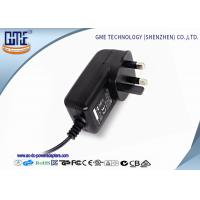 Quality Black 3 Prong 24W 2A 12 volt ac dc adapter With CE Certified wholesale