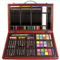 Cheap Beven 79 Piece Studio Art & Craft Supplies Drawing and Painting Set in Wood Box for sale