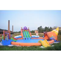 Quality 20m Giant Portable Inflatable Water Park Slide With Pool For Commercial Use wholesale