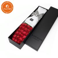 Quality Wholesale custom logo exquisite craft long stem bouquet gift packaging box wholesale