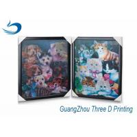 China Decration 3D Printing Lenticular Flip Effect Cute Cat Changing Images on sale