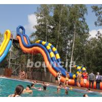 Quality Giant Inflatable Water Slide With Durable 0.9 mm PVC Tarpaulin wholesale