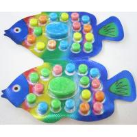 Quality 2.8g Fish shape compressed candy / multi friut flavor colorful sweet children's favorite wholesale