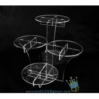 Cheap CD (22) wedding cake stand crystal for sale