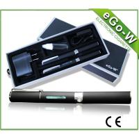 China Black , Stainless Ego W Electronic Cigarette Vaporizer Refillable on sale
