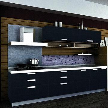 Cheap new model dark blue demet acrylic antique kitchen for Blue kitchen units sale