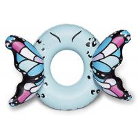 Quality Customized Blue Butterfly Wings Pool Float , Adult Pool Tube With Patch Kit Included wholesale