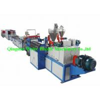 Quality PVC Vinyl Plastic Sheet Extrusion Line Double Layers Co-Extrusion , Width 400mm wholesale