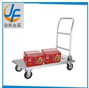 Cheap Foldable Cargo Wagon Transport Platform Bakery Rack Warehouse Trolley Cart for sale