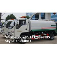 China 2017s best price new foton 5,000L water tank truck for sale, factory sale foton brand mini 5,000L water cistern truck on sale