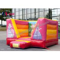 Quality Pink Party Bouncy Castle Rental ,  Inflatable Bouncers For Kids Combo Theme wholesale
