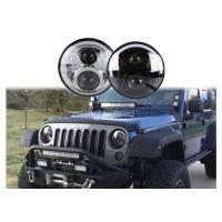 Quality 60W LED Headlights For Jeep Wrangler 7 Inch With Hi - Lo Beam Round wholesale