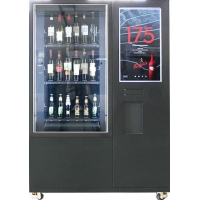 China Big Touch Screen Bottle Wine Vending Machine With Remote Platform And Coin Bill Acceptor on sale