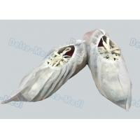 PP White Non Slip Shoe Covers , Lightweight Waterproof Protective Shoe Covers