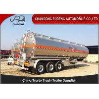 Quality 304 Stainless Steel 15000 Gallon 35000L Diesel / Gasoline Tank Trailer With 12 Wheeler wholesale