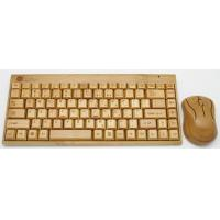 Quality 108 keys wireless bamboo keyboard and mouse factory wholesale wholesale