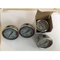 Quality Stainless Steel Oil Filled Pressure Gauge for Water Treatment Back Connection wholesale