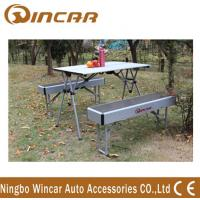 Quality Heavy Duty Aluminum Expandable Portable Camping Table With Bench wholesale