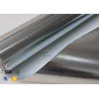 Quality Heat Reflective 0.43MM 480G Aluminium Foil Fiberglass Cloth SDS Certification wholesale