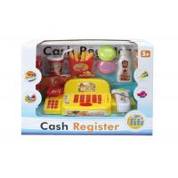 China Safe Plastic 12.6  Toy Cash Register With Scanner / Clear LCD Screen on sale