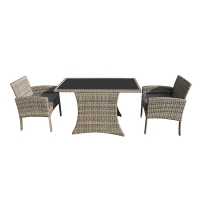 Buy cheap Bistro Wicker Rattan Garden Furniture Sofa Chair Set With Cushion from wholesalers