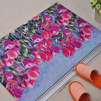 China Non-Slip Rubber Floor Carpet With Beautiful Flower Design For Outdoor / Indoor Entrances on sale